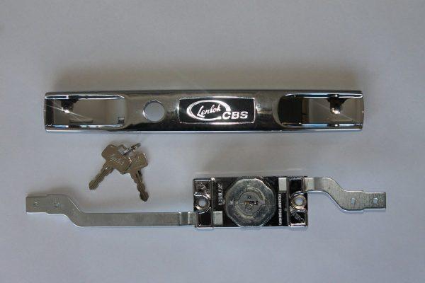 LENLOK Roller door lock on grey background