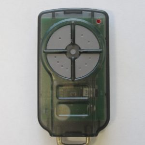 Green garage door remote