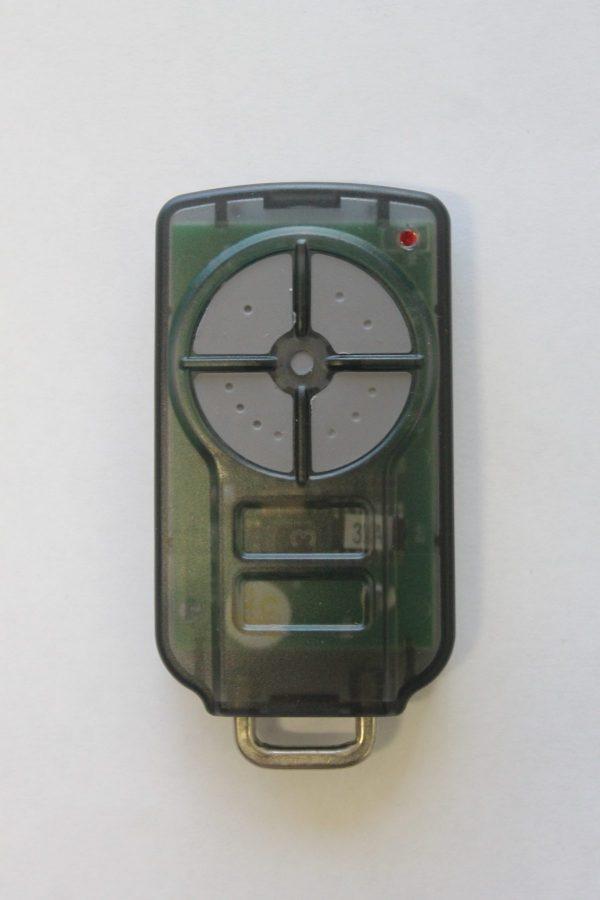 Green garage door remote